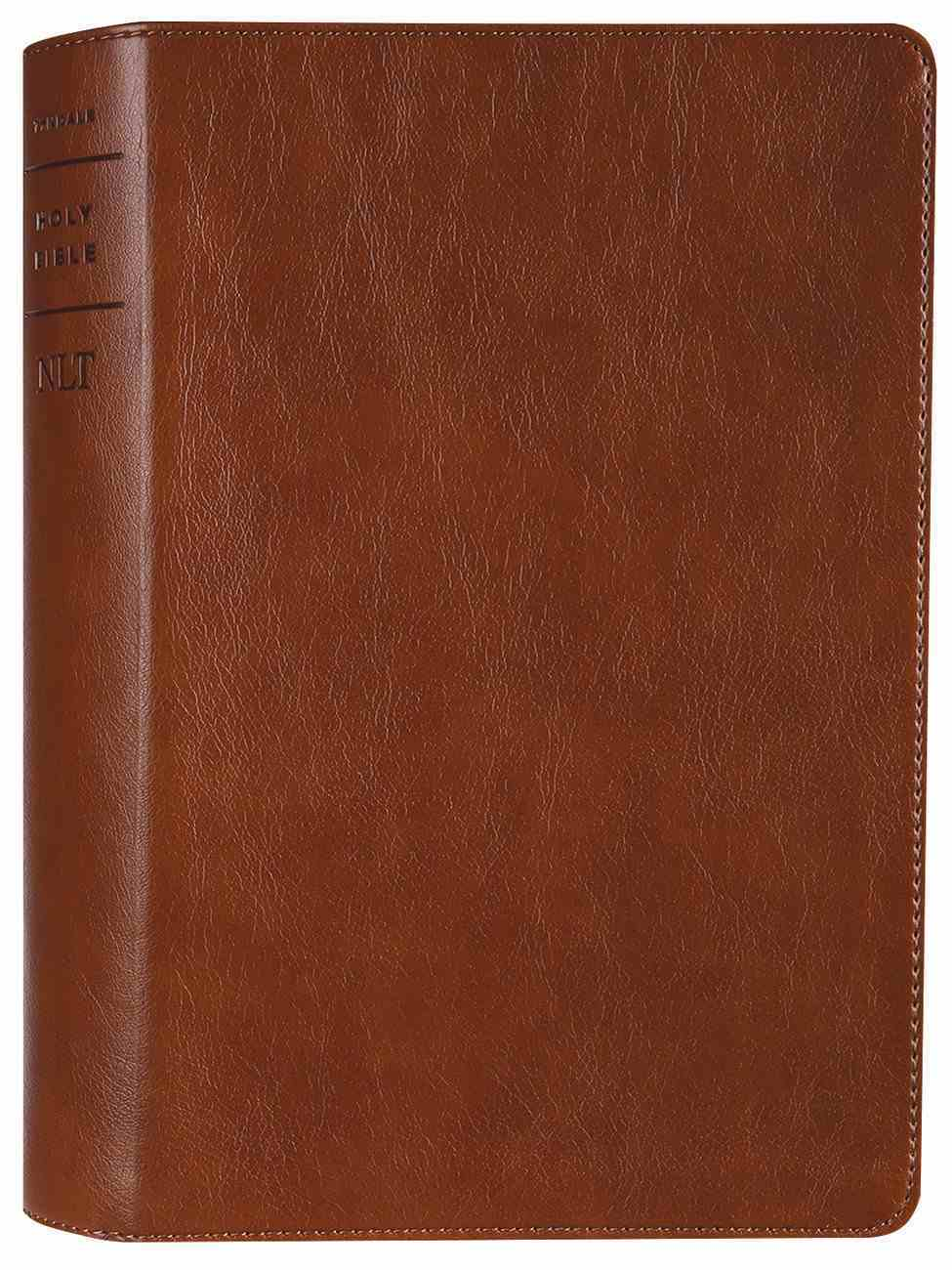 NLT Personal Size Giant Print Bible Filament Enabled Edition Rustic Brown (Red Letter Edition) Imitation Leather