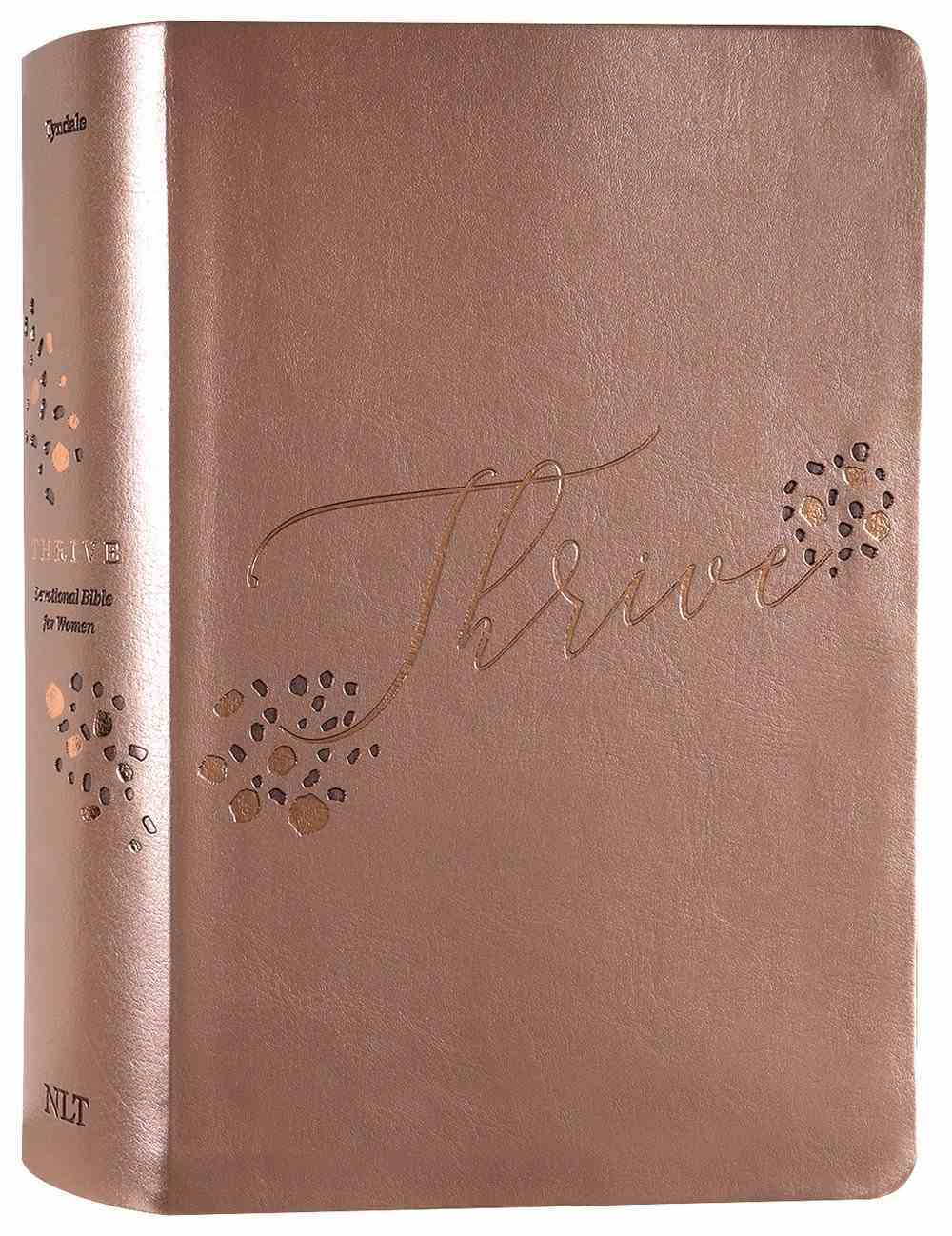 NLT Thrive Devotional Bible For Women Rose Metallic Imitation Leather