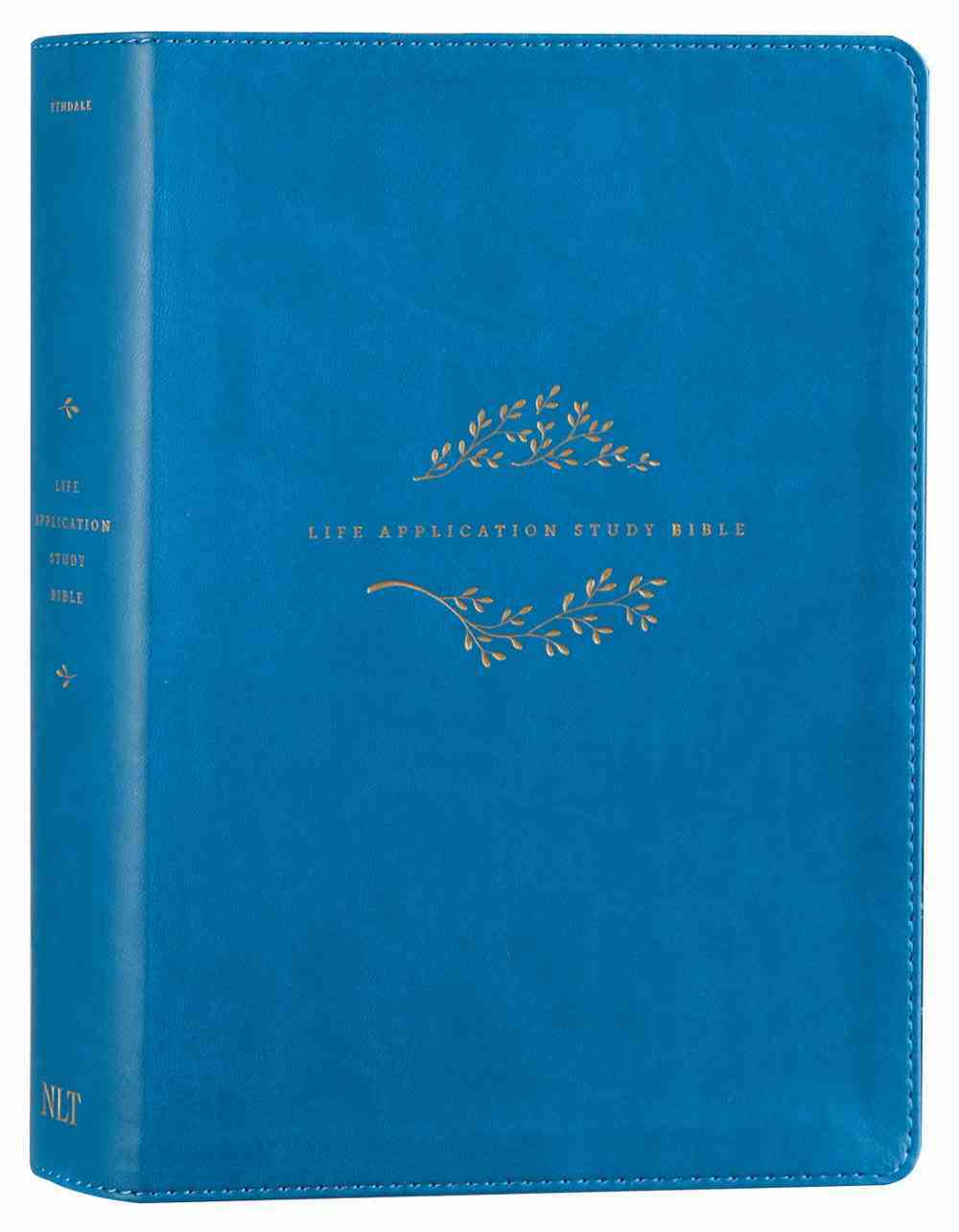 NLT Life Application Study Bible Teal Blue (Red Letter Edition) (3rd Edition) Imitation Leather