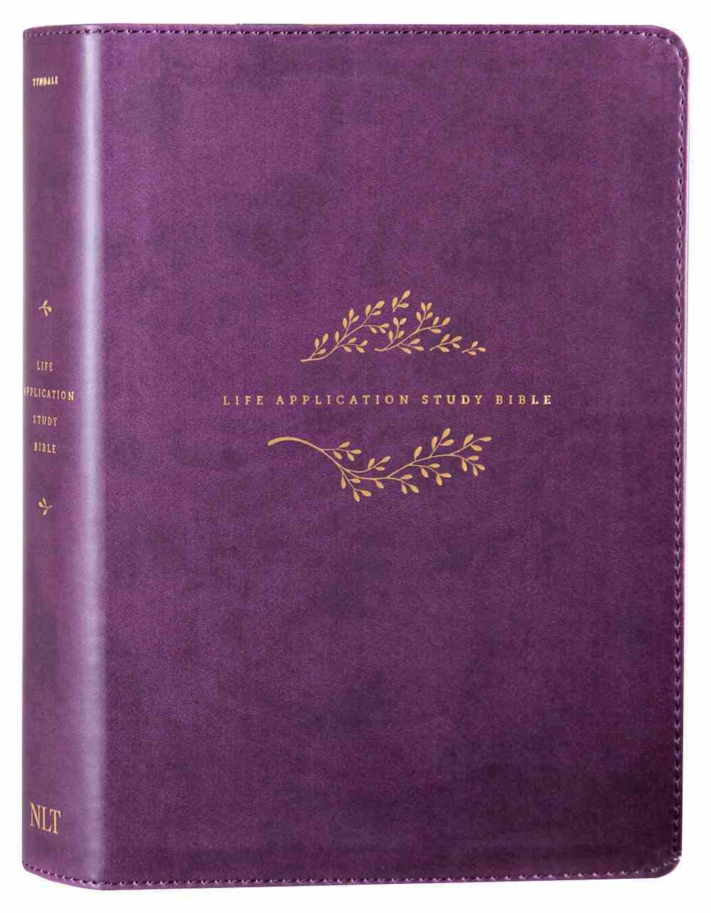 NLT Life Application Study Bible Purple (Red Letter Edition) (3rd Edition) Imitation Leather