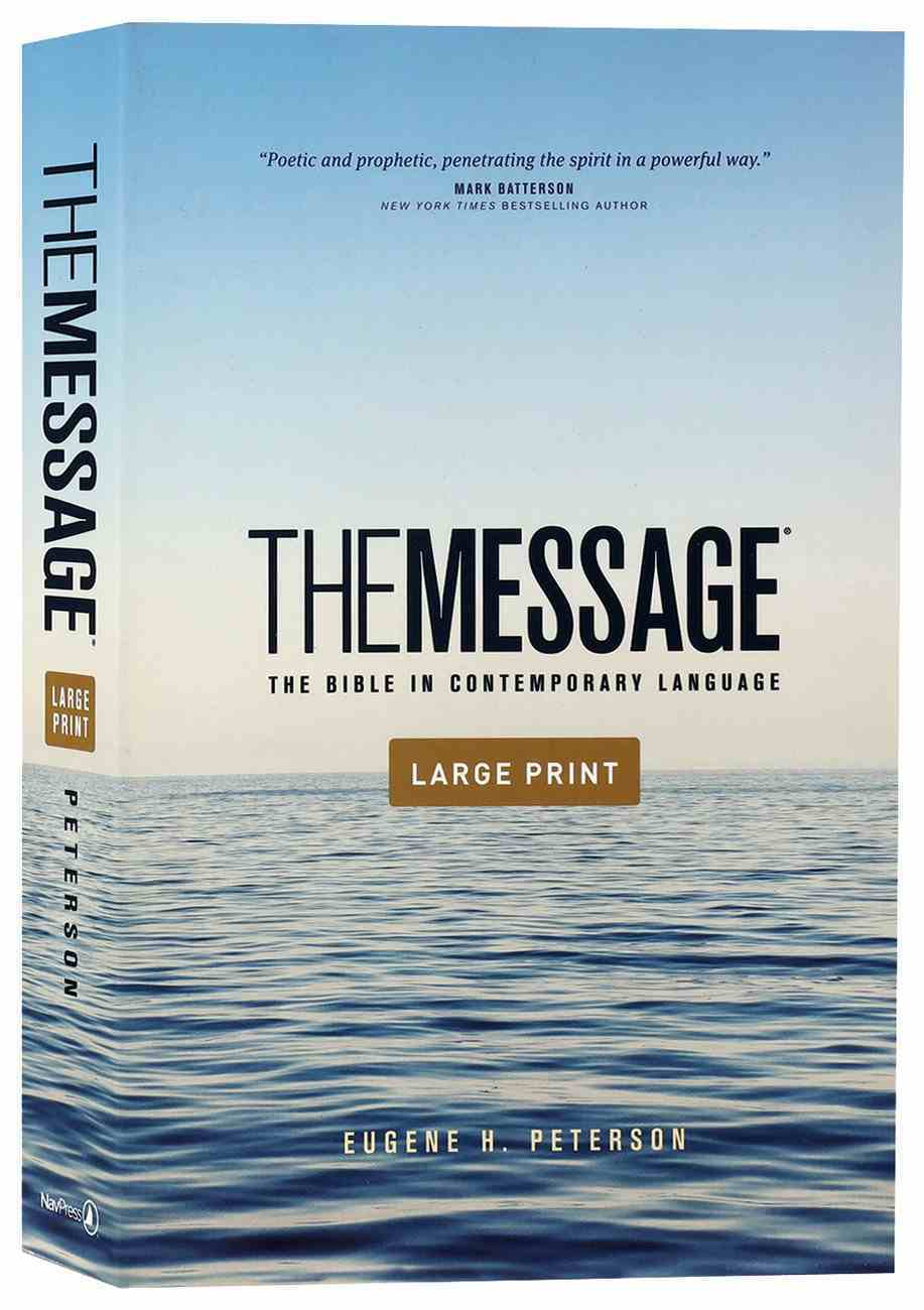 Message Outreach Edition Large Print (Black Letter Edition) Paperback