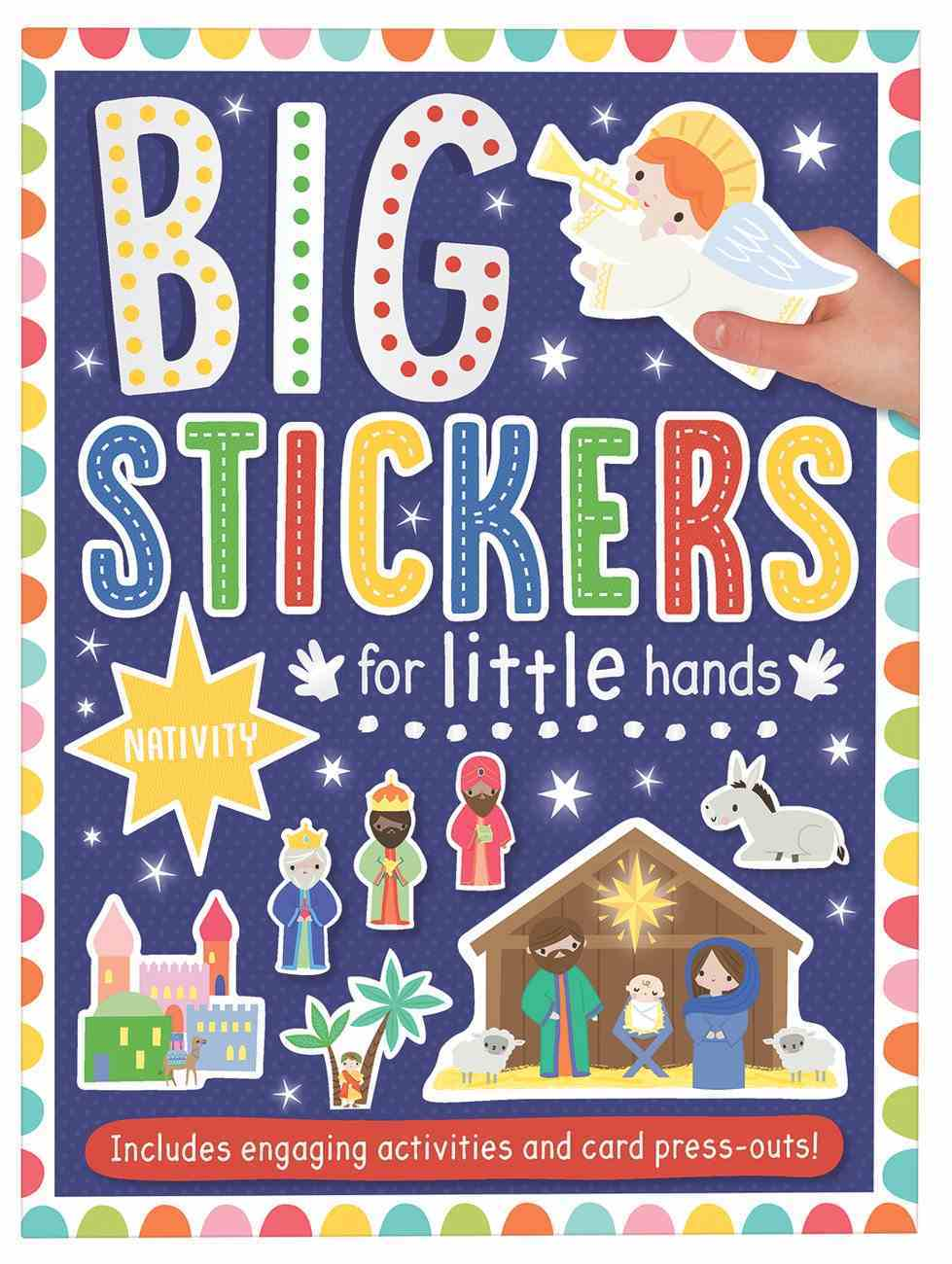 Big Stickers For Little Hands: Nativity Paperback