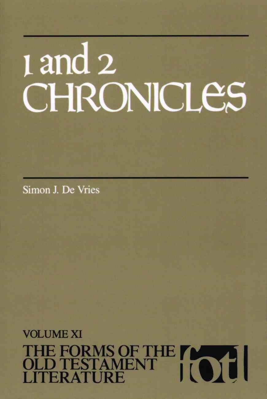 1&2 Chronicles (Forms of the Old Testament Literature) (#11 in Forms Of The Old Testament Literature Series) Paperback