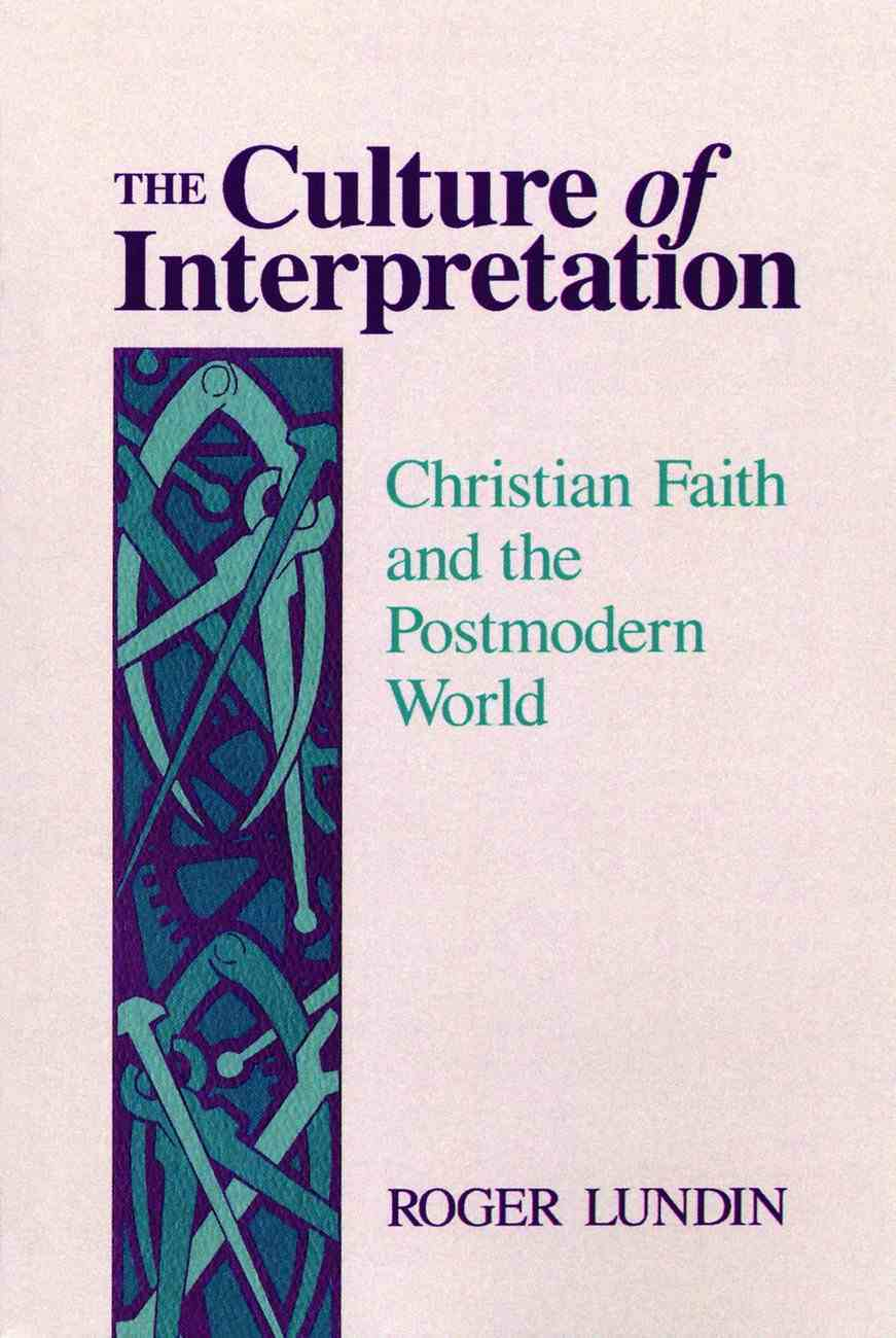 Culture of Interpretation Paperback