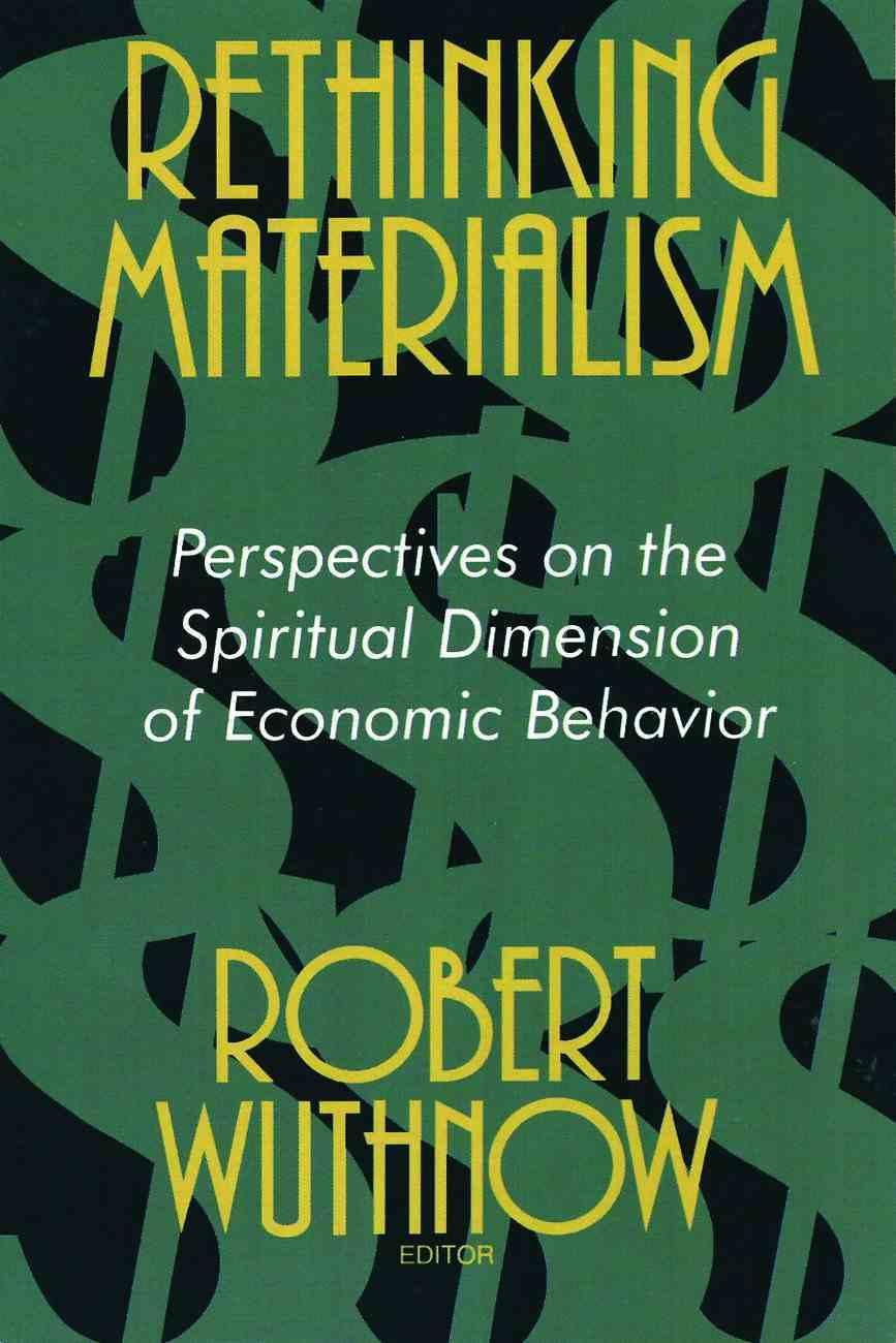 Rethinking Materialism Paperback