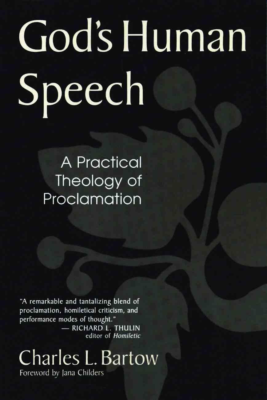 God's Human Speech Paperback
