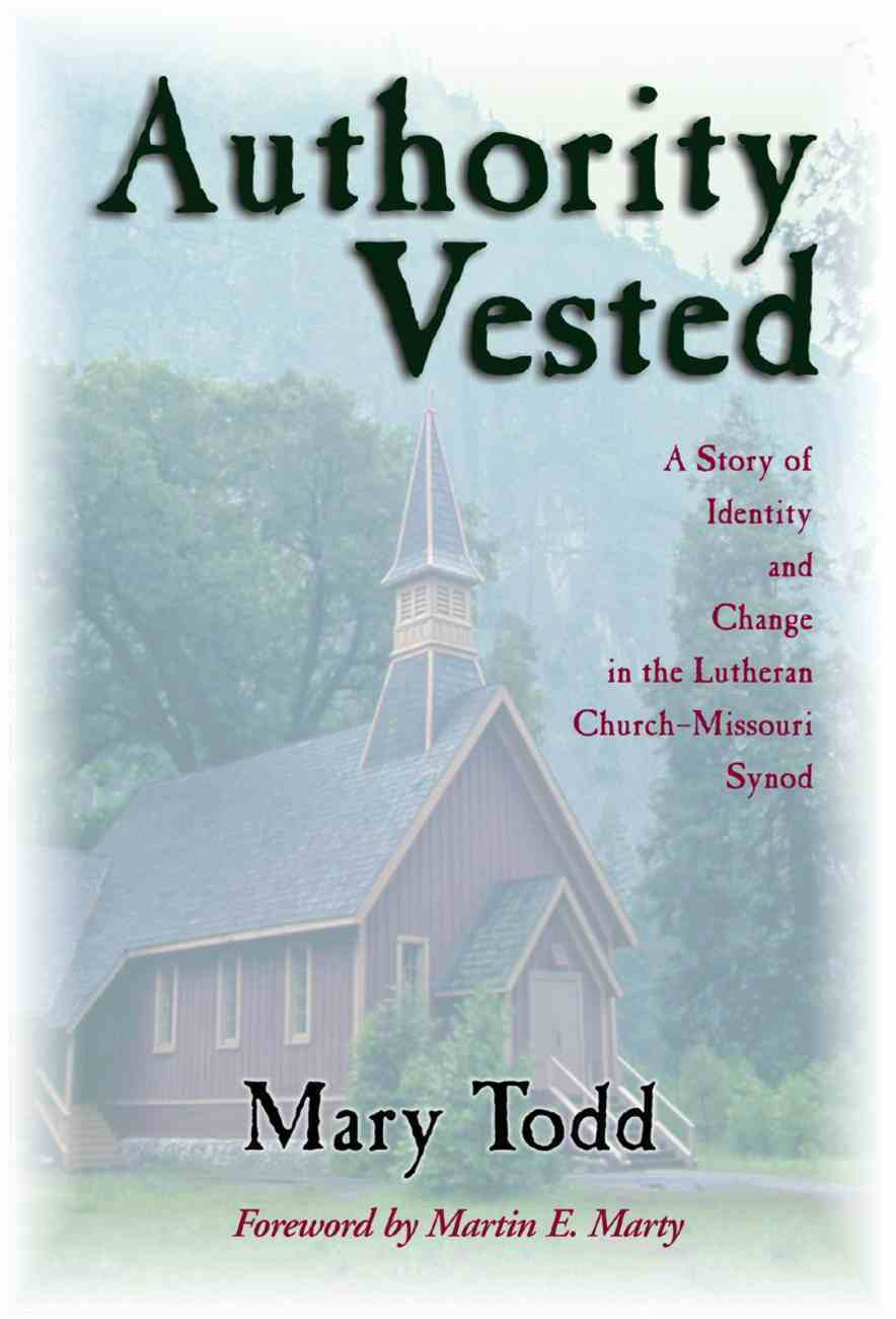 Authority Vested Paperback