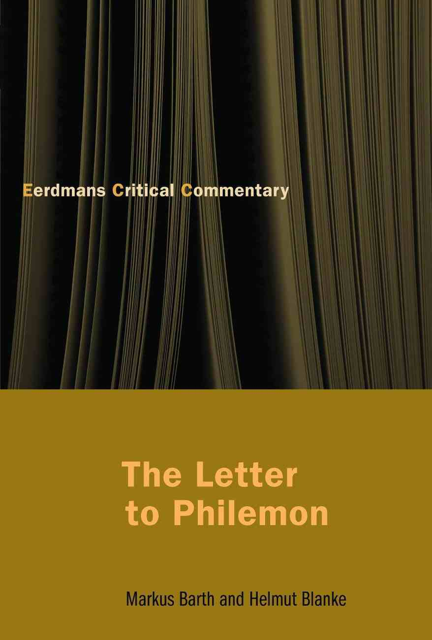 The Letter to Philemon Paperback