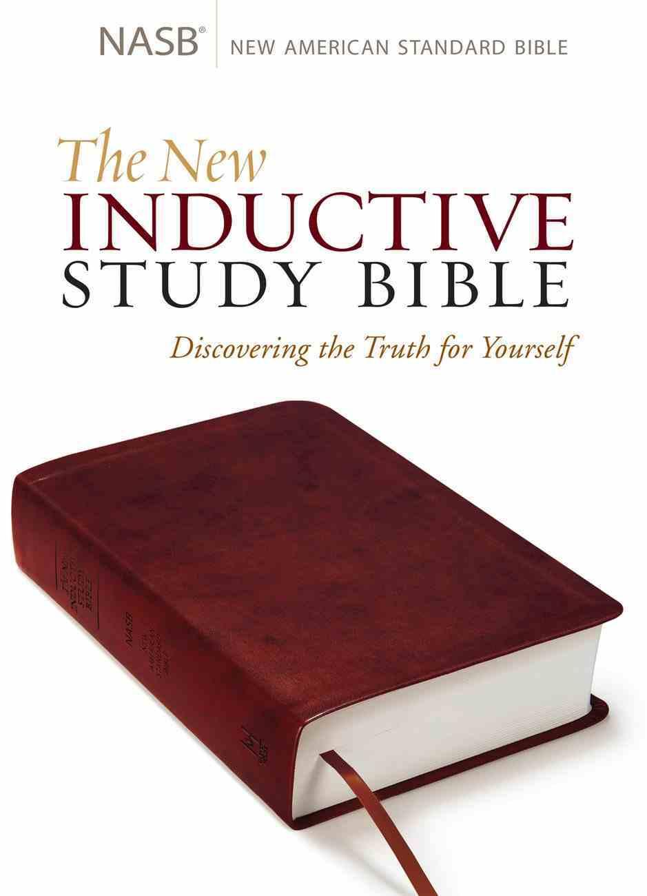 NASB New Inductive Study Bible Milano Burgundy Imitation Leather