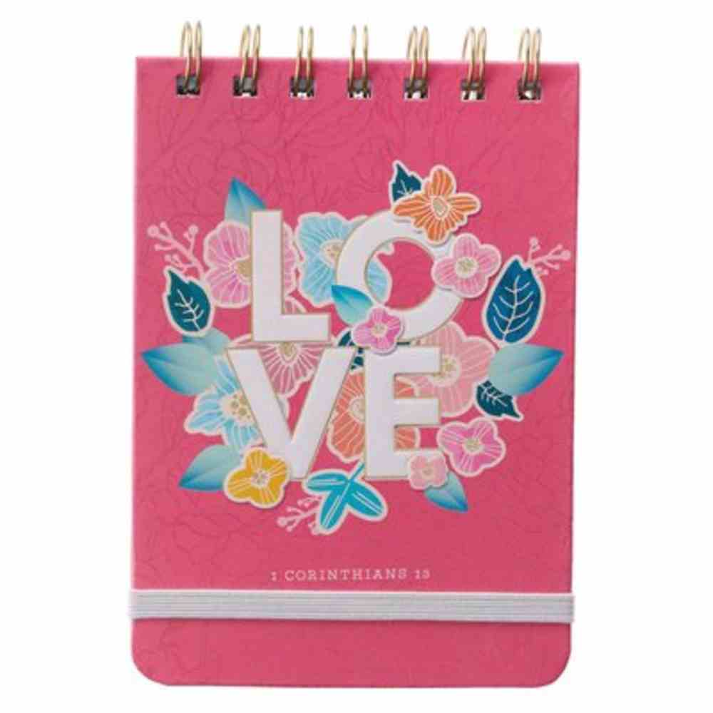 Notepad: Love Pink (1 Cor. 13) Spiral