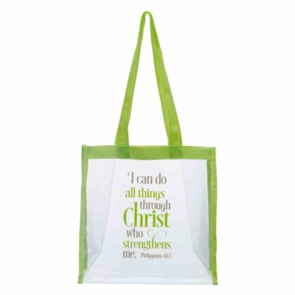 Tote Bag: I Can Do All Things Clear (Phil 4:13) Soft Goods