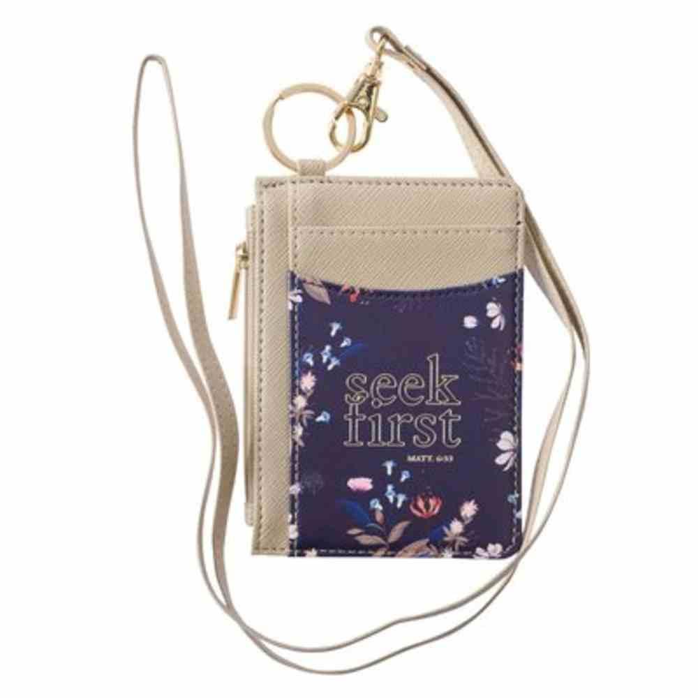 Id Card Holder: Seek First (Matthew 6:33) Imitation Leather