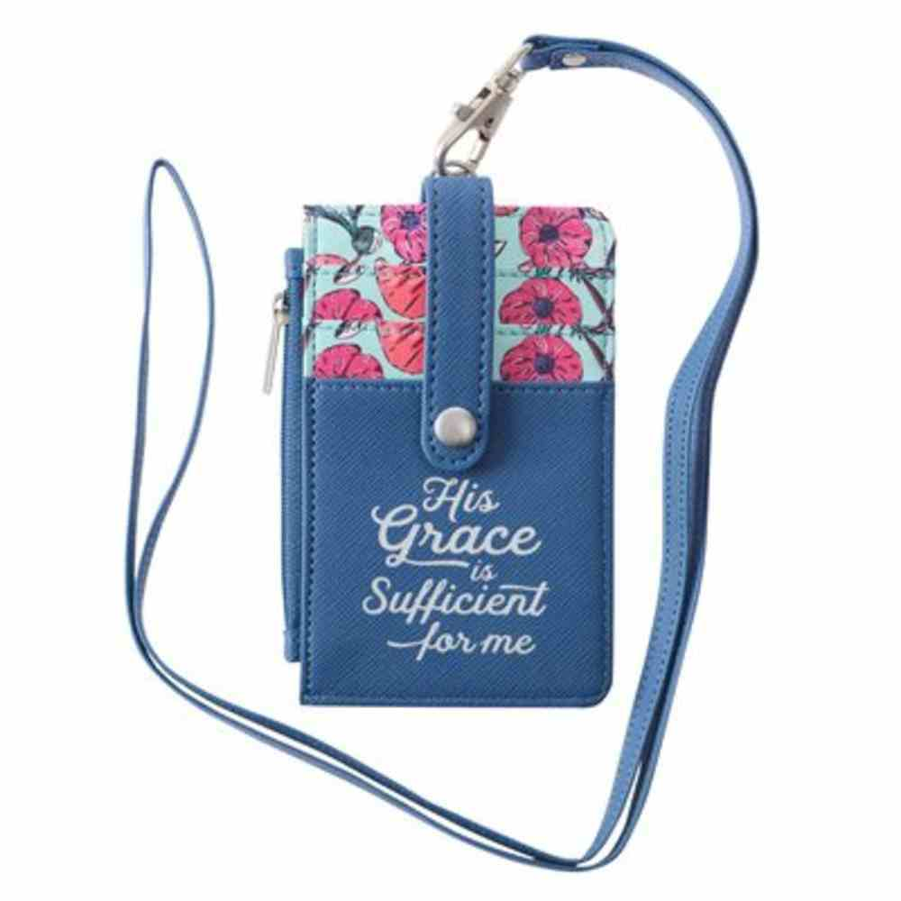 Id Card Holder: His Grace is Sufficient (2 Cor. 12:9) Soft Goods