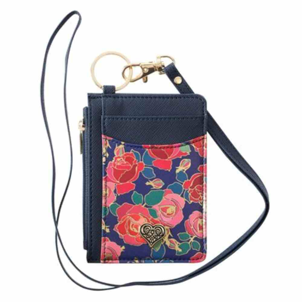 Id Card Holder: Filagree Heart and Roses Soft Goods
