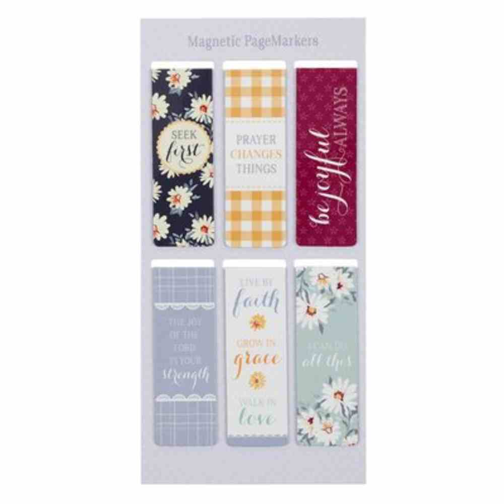 Bookmark Magnetic: Daisies (Set Of 6) Stationery