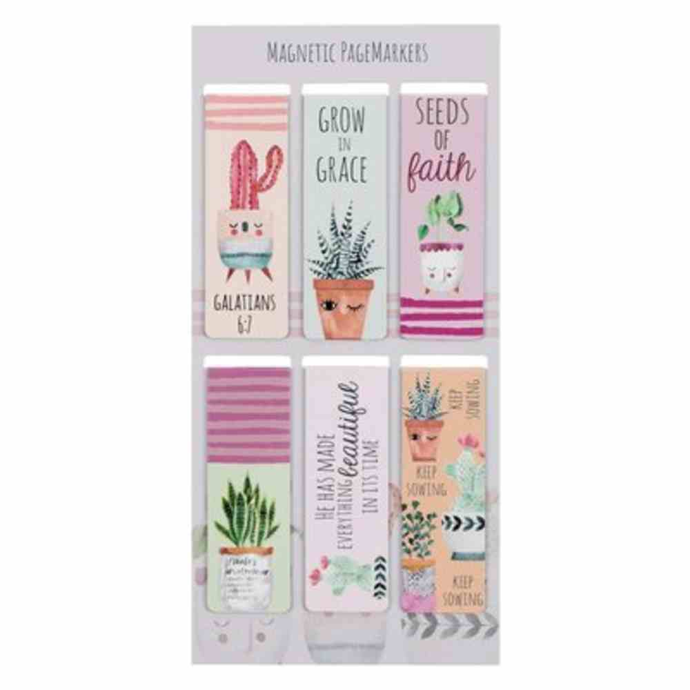 Bookmark Magnetic: Grow in Grace (Set Of 6) Stationery