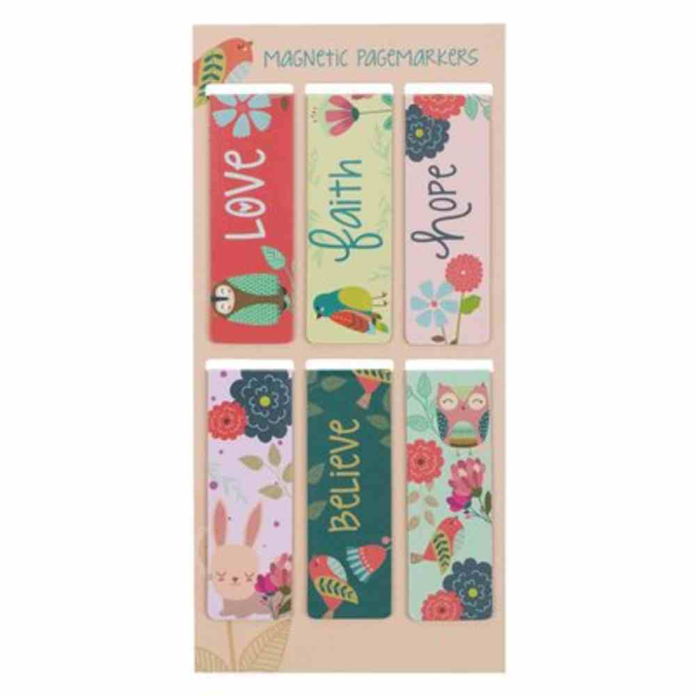 Bookmark Magnetic: Love Faith Hope Believe (Set Of 6) Stationery