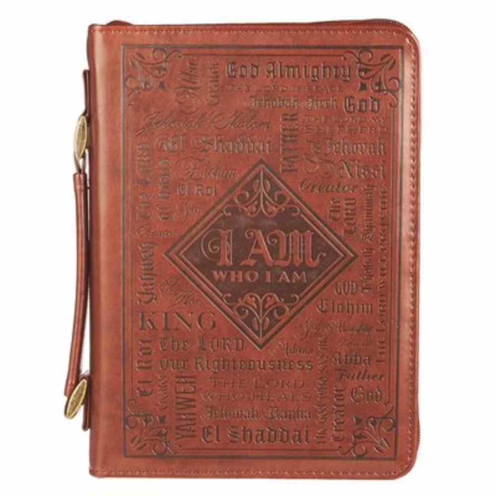 Bible Cover Extra Large: Names of God, Brown (I Am) Imitation Leather