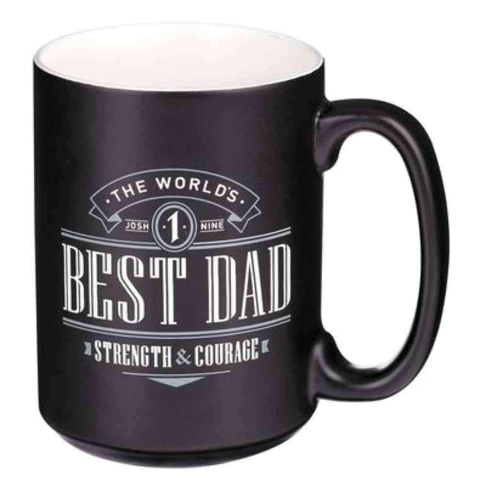 Ceramic Mugs: Best Dad (Joshua 1:9) Black (414 Ml) Homeware