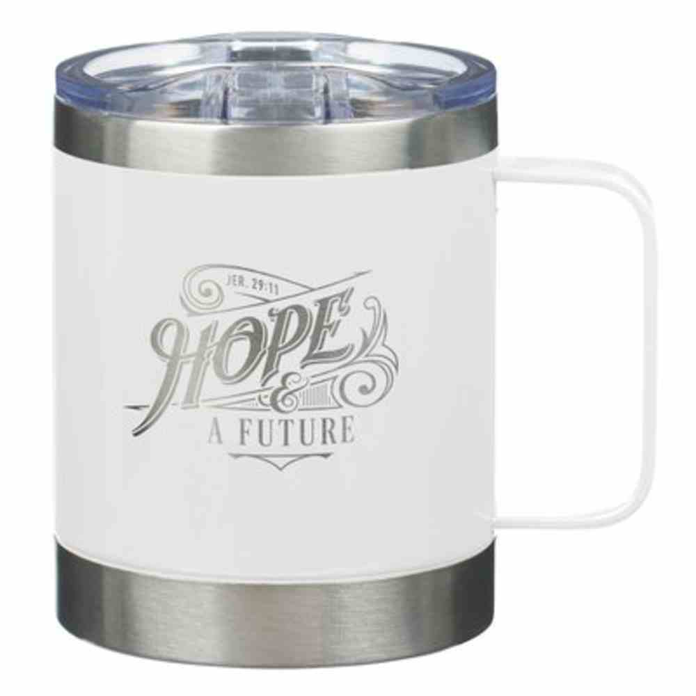 Stainless Steel Travel Mug: Hope and a Future (Jer 29:11) White (325ml) Homeware