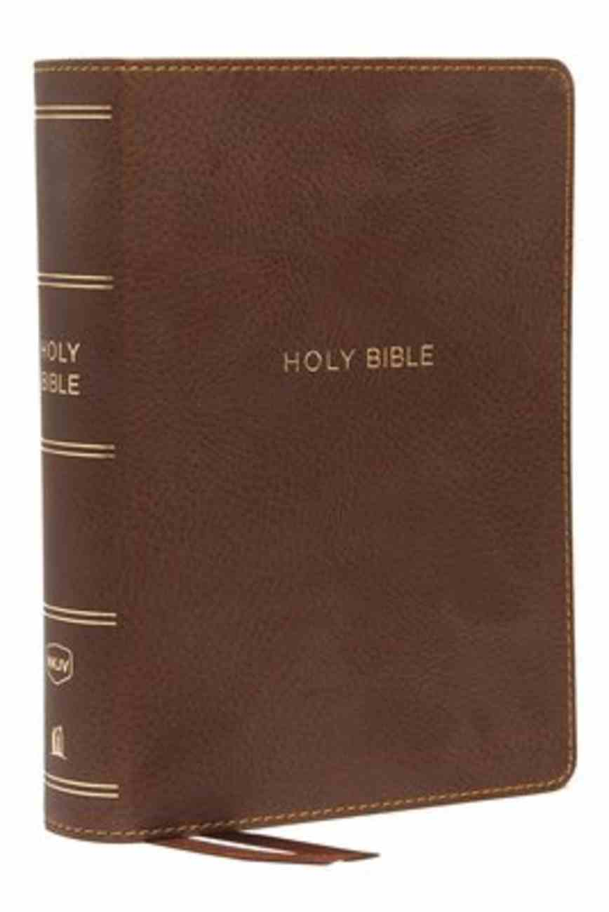 NKJV Compact Reference Bible Brown (Red Letter Edition) Premium Imitation Leather