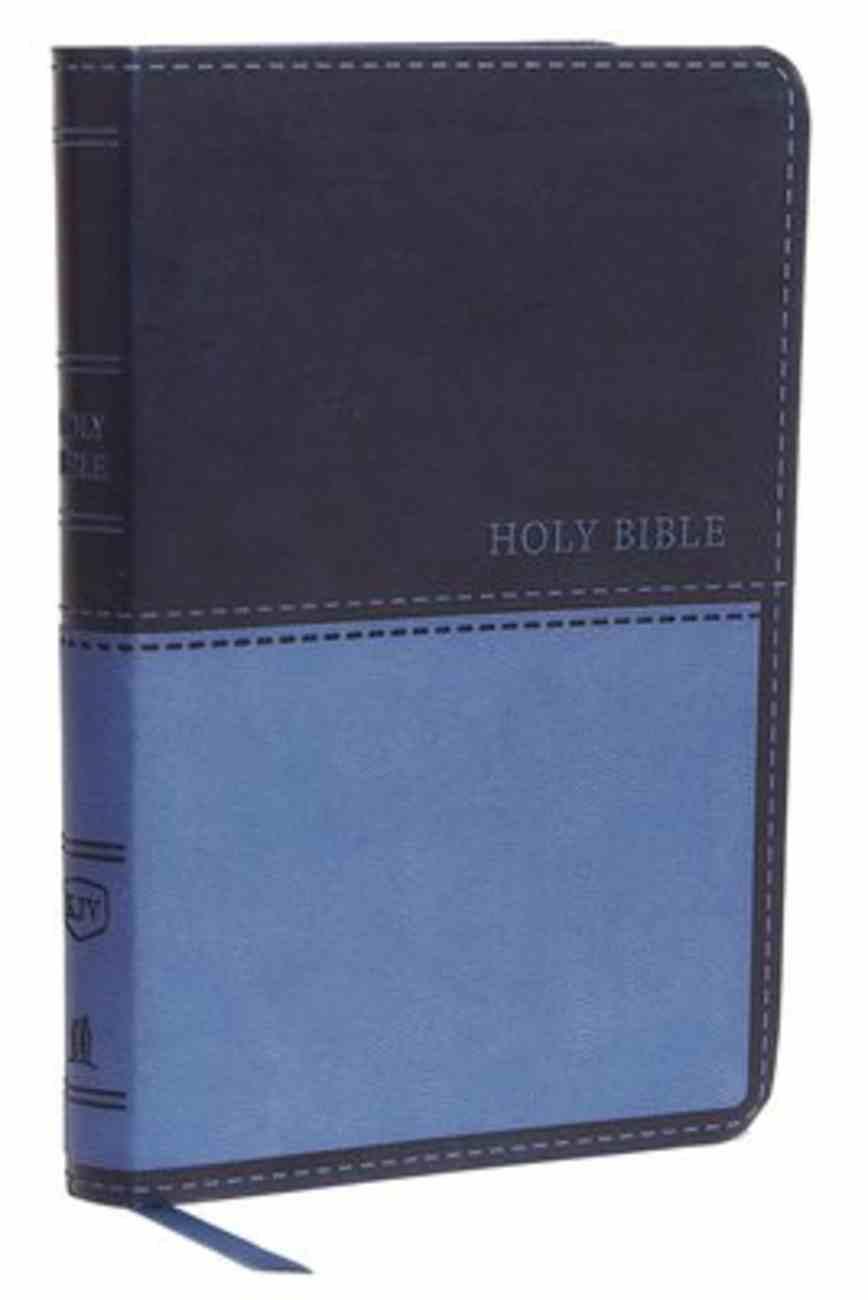 KJV Value Thinline Bible Compact Blue (Red Letter Edition) Premium Imitation Leather