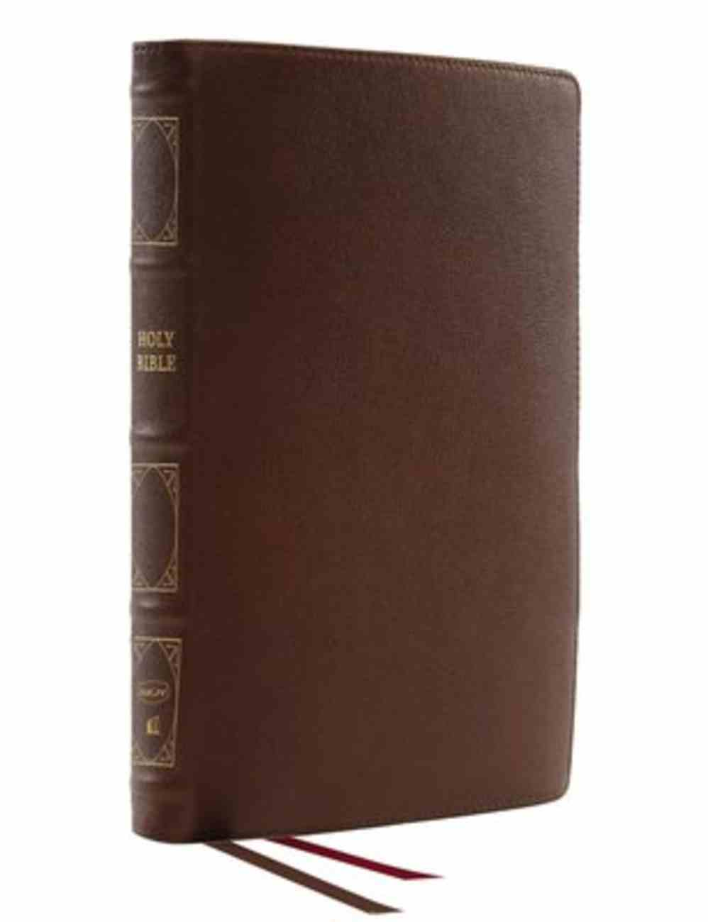 NKJV Thinline Reference Bible Brown (Red Letter Edition) Genuine Leather
