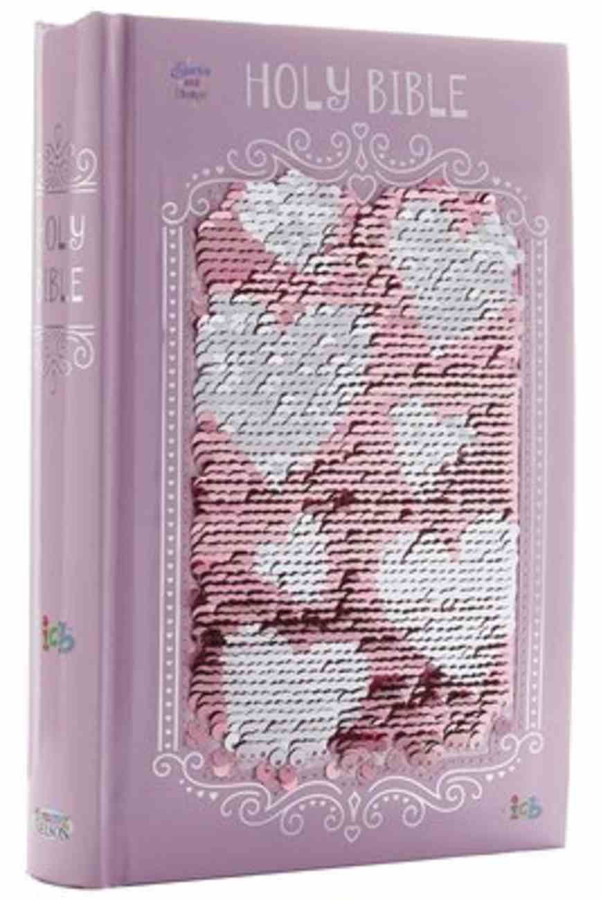 ICB Sequin Sparkle and Change Bible Pink Hardback