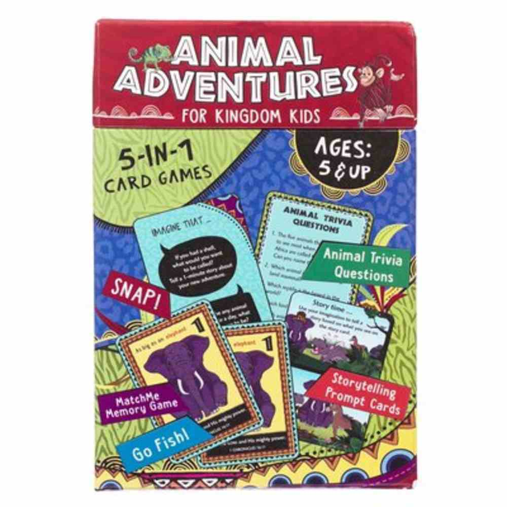 Animal Adventures For Kingdom Kids (5 In 1 Card Games) Game