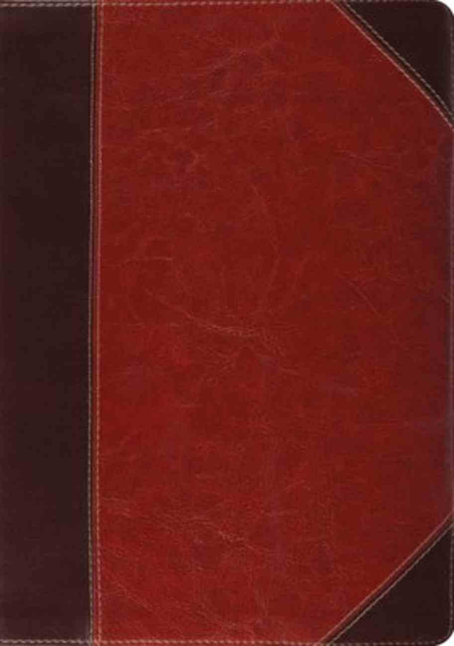 ESV Study Bible Brown/Cordovan Portfolio Design (Black Letter Edition) Imitation Leather