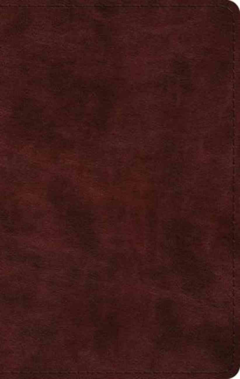 ESV Large Print Thinline Bible Mahogany (Black Letter Edition) Imitation Leather