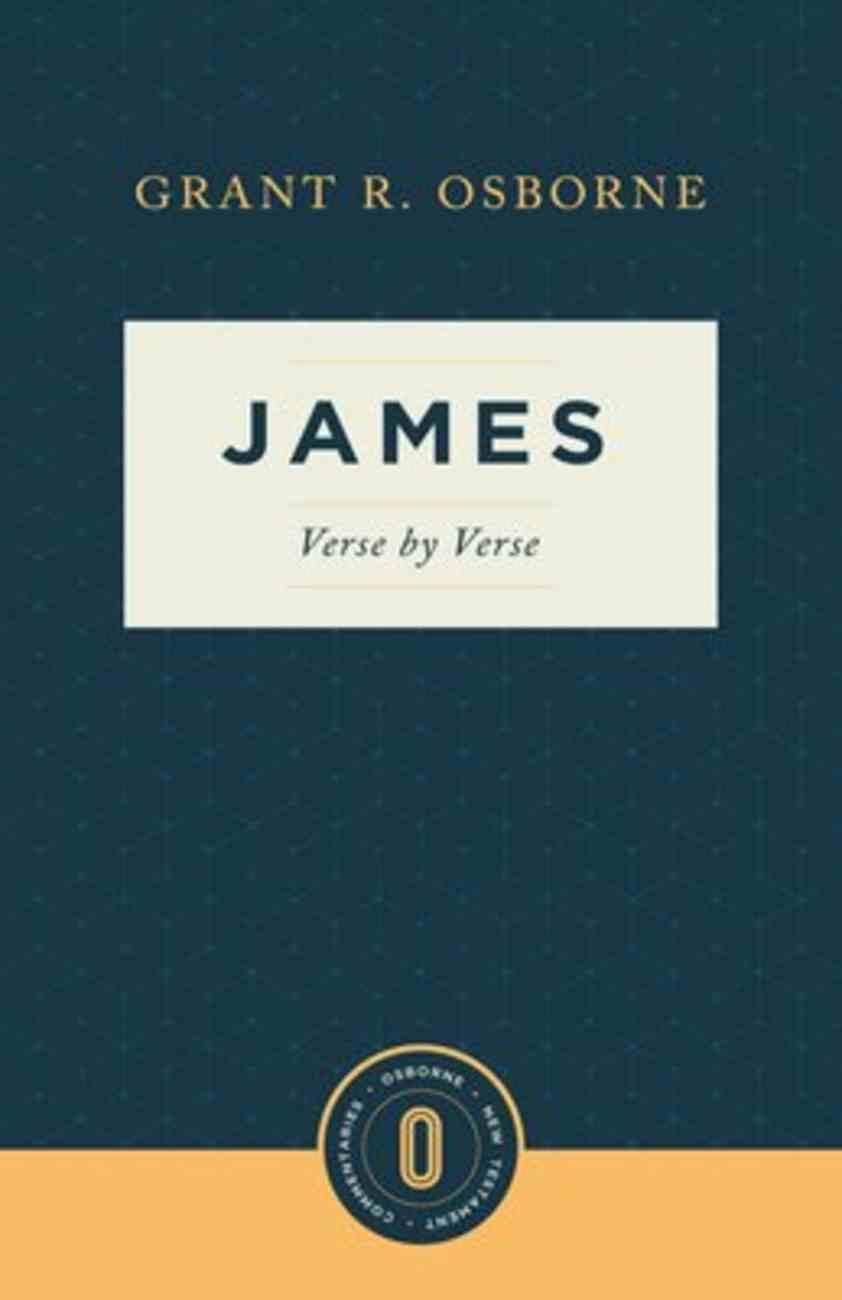 James Verse By Verse (Osborne New Testament Commentaries Series) Paperback
