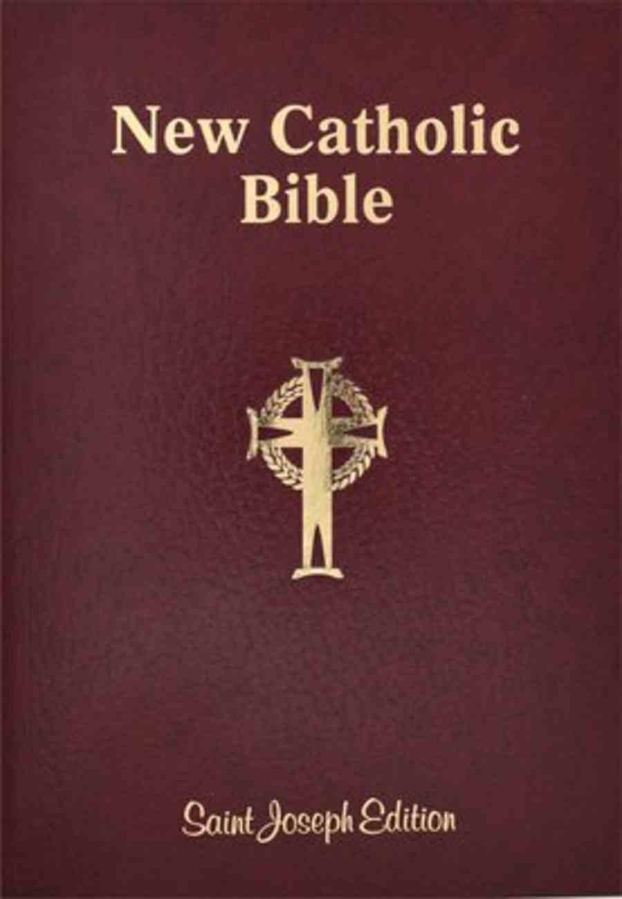 Ncb St Joseph New Catholic Bible Giant Print Burgundy Flexi Back