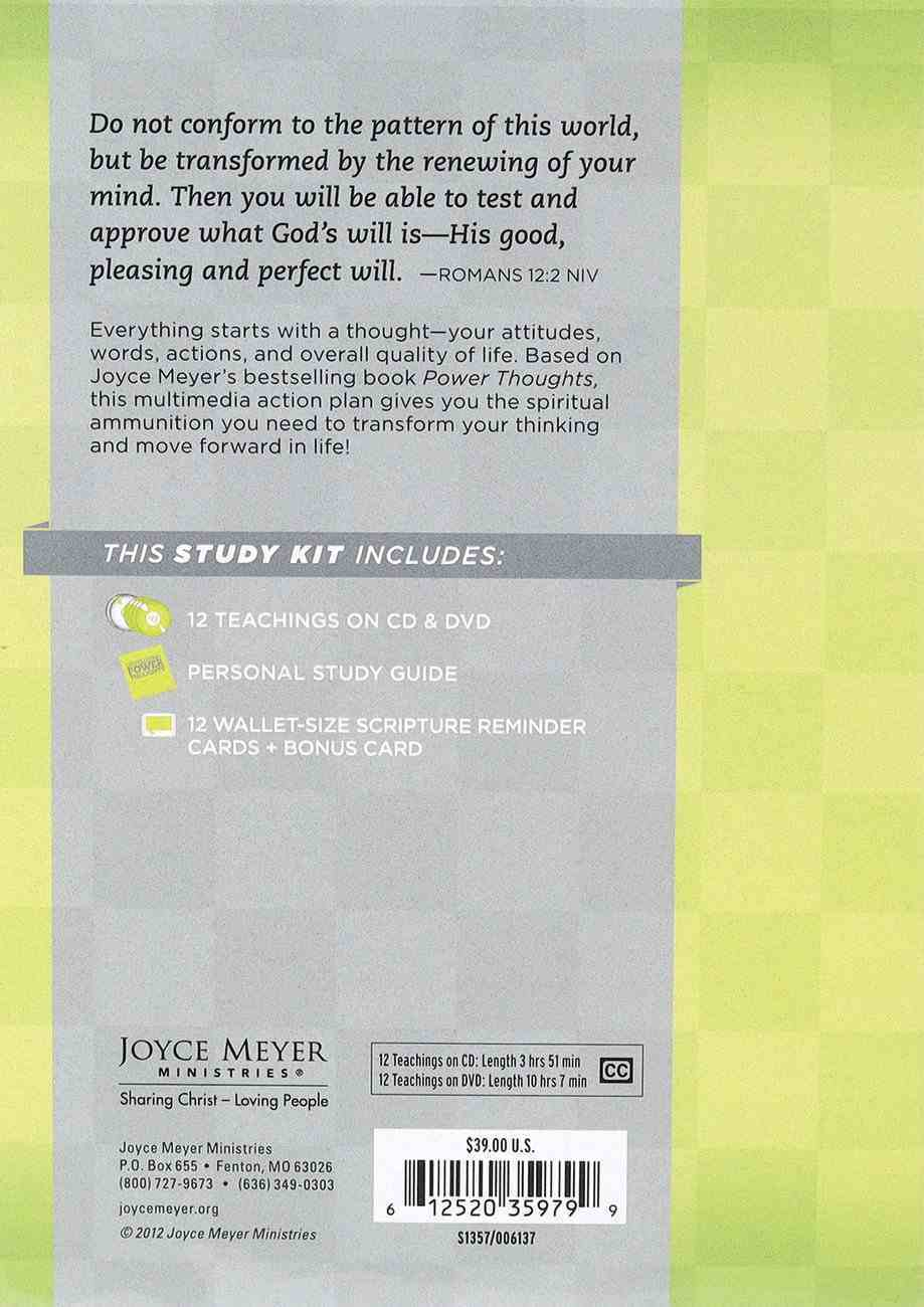 Developing Power Thoughts Action Plan (Kit Includes 12 Sessions On Cd And Dvd- 3 Hours 51 Min Total, Study Guide, Reminder Cards) Pack