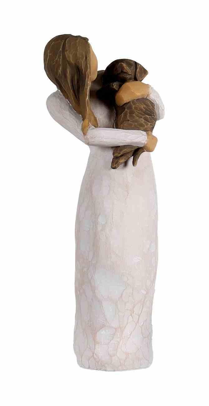 Willow Tree Figurine: Adorable You, Dark Dog, a Joyful Friendship Homeware