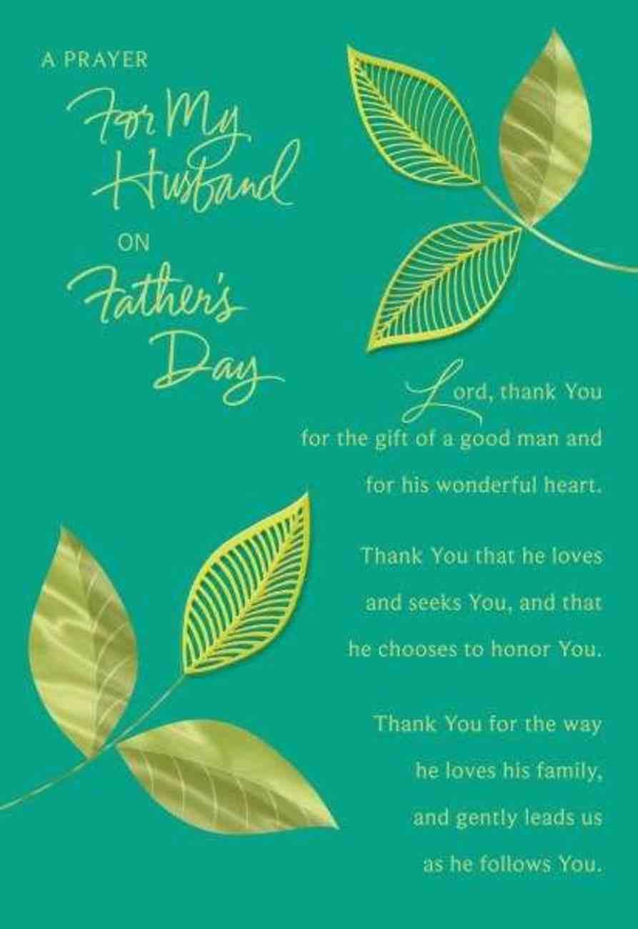 A Prayer For My Husband (Phil 1: 7 Nlt) Cards