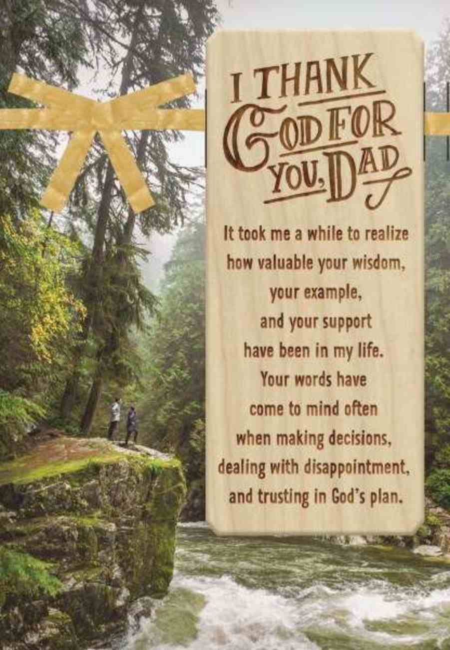Father's Day - I Thank God For You Dad (John 10: 10 Kjv) Cards