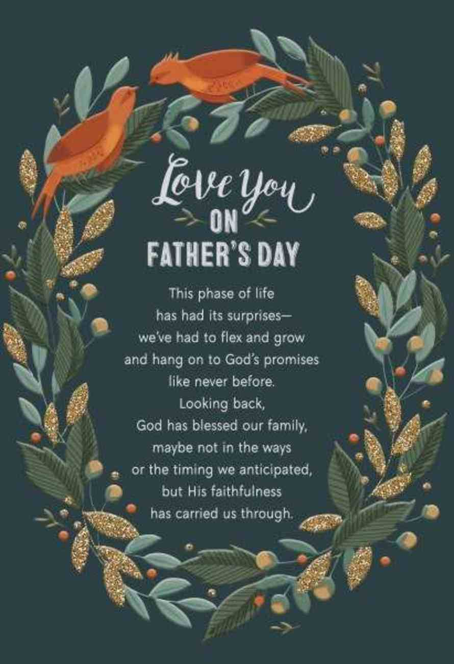 Love You on Father's Day (Prov 28: 20 Nkjv) Cards