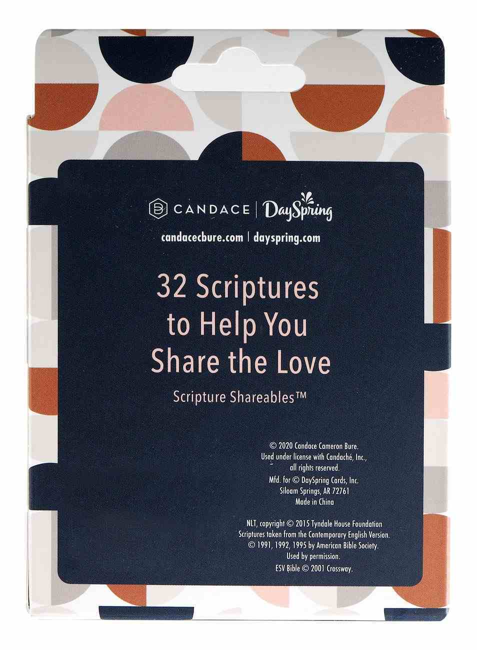 Scripture Sharables: Love (32 Unique Cards Per Box) (Candace Collection) Stationery