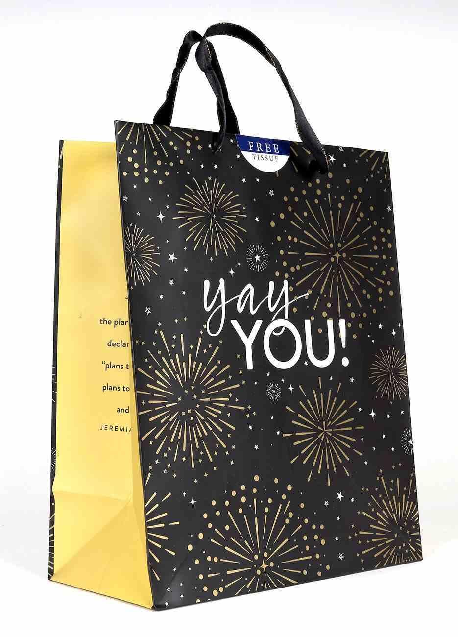 Gift Bag Large: Yay You!, Fireworks (Jer 29:11 Niv) Stationery