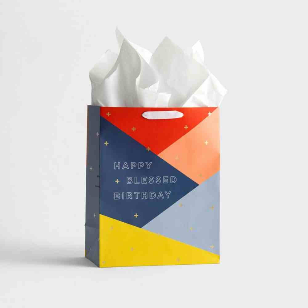 Gift Bag Large: Happy & Blessed Birthday (Numbers 6:24 Niv) Stationery