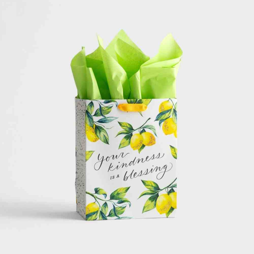 Gift Bag Medium: Your Kindness, Lemons (Ruth 2:12 Ncv) Stationery