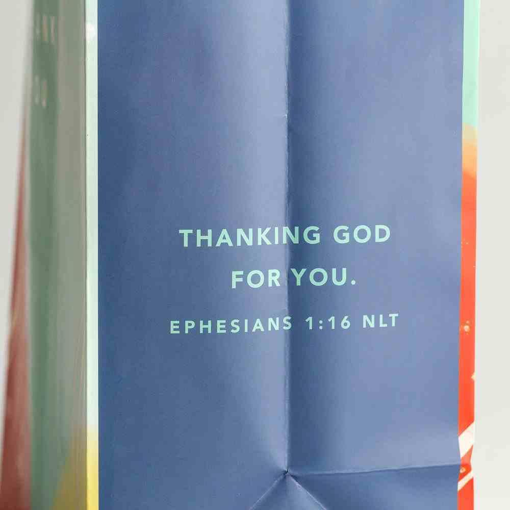 Gift Bag Large: Thank You Gold Foil (Ephesians 1:16 Nlt) Stationery