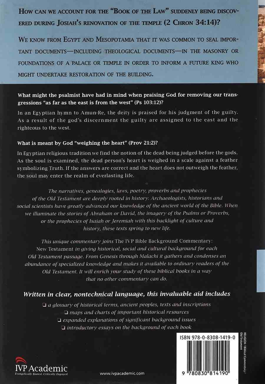 Old Testament (Ivp Bible Background Commentary Series) Hardback