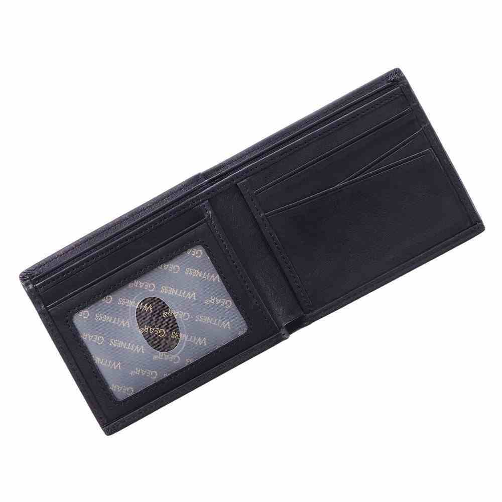 Leather Wallet: The World's Best Dad Strength & Courage Genuine Leather