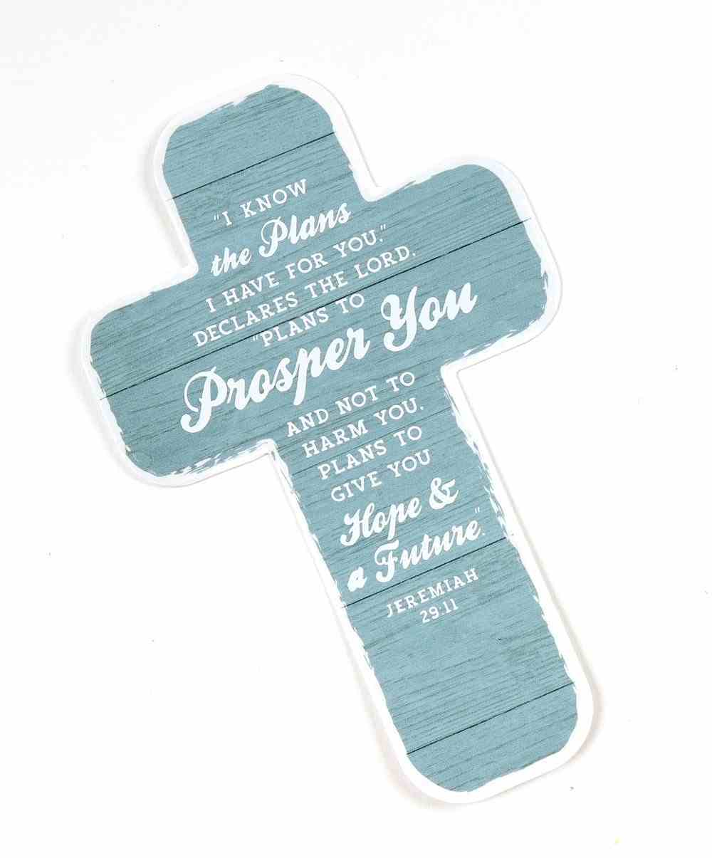 Bookmark Cross-Shaped: I Know the Plans Teal (Jeremiah 29:11) Stationery