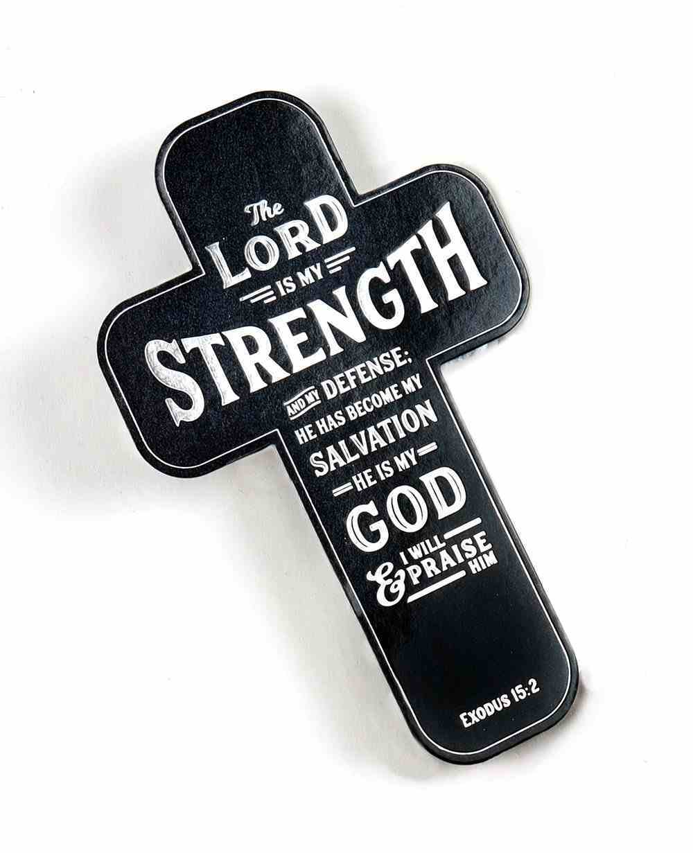 Bookmark Cross-Shaped: The Lord is My Strength Black (Exodus 15:2) Stationery