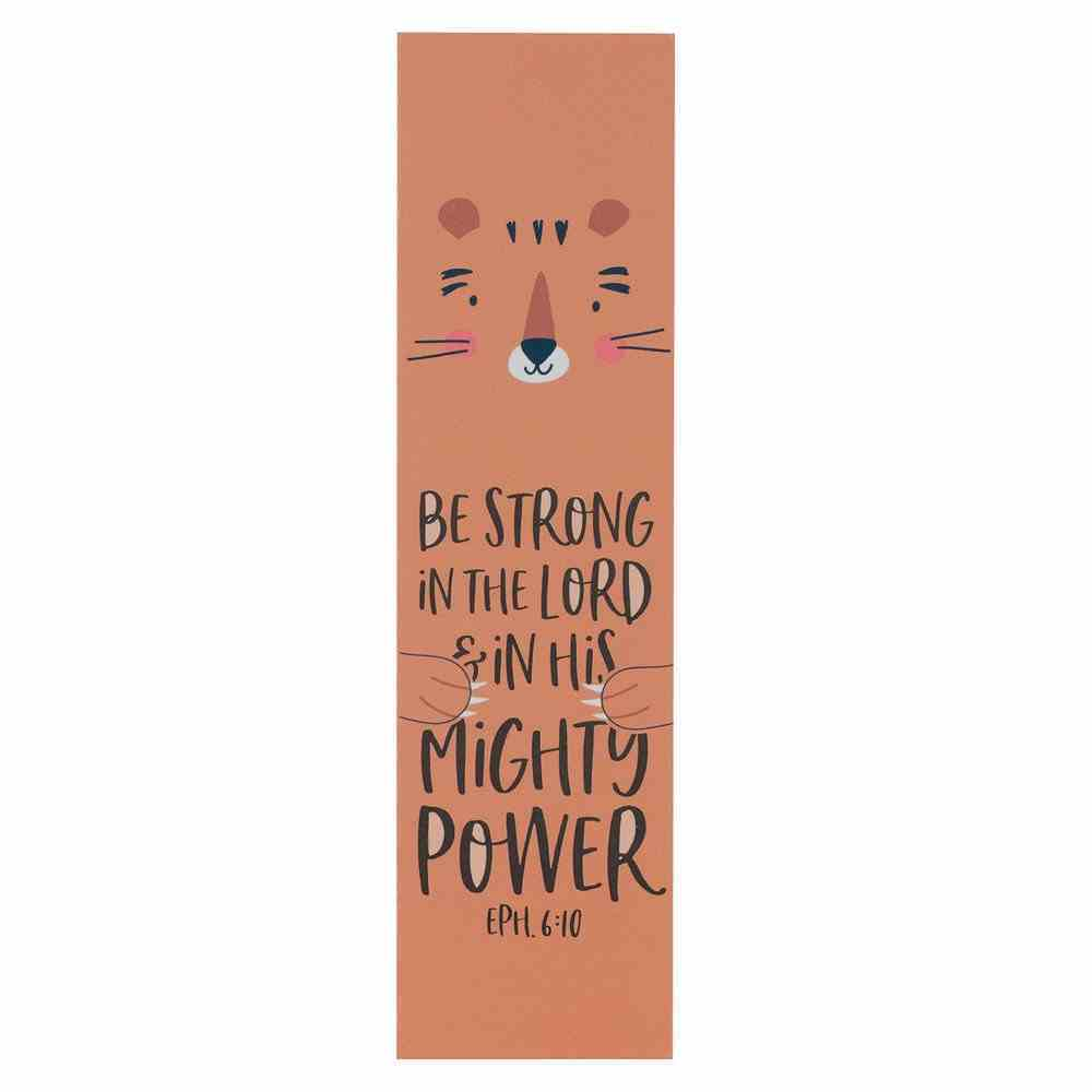 Bookmark: Strong in the Lord (Eph. 6:10) Orange (10 Pack) Stationery