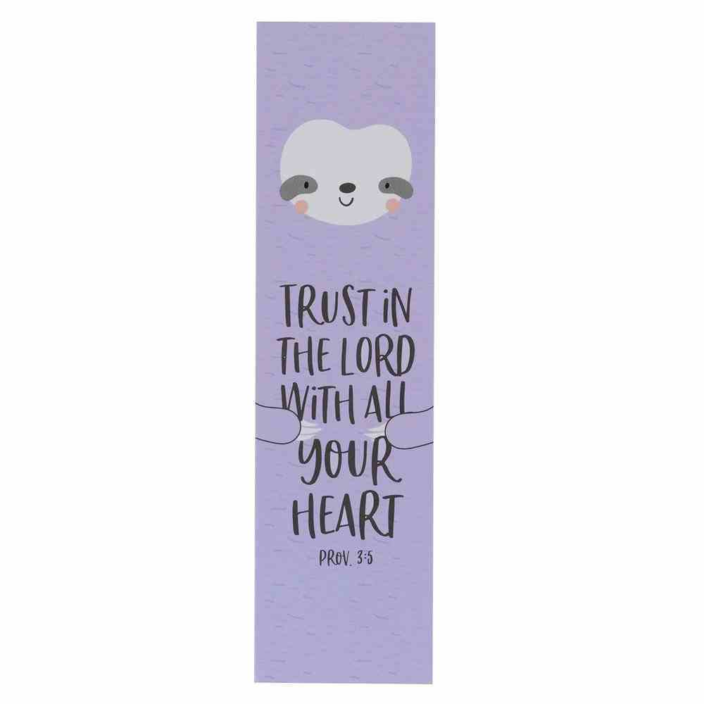 Bookmark: Trust in the Lord (Proverbs 3:5) Lavendar (10 Pack) Stationery