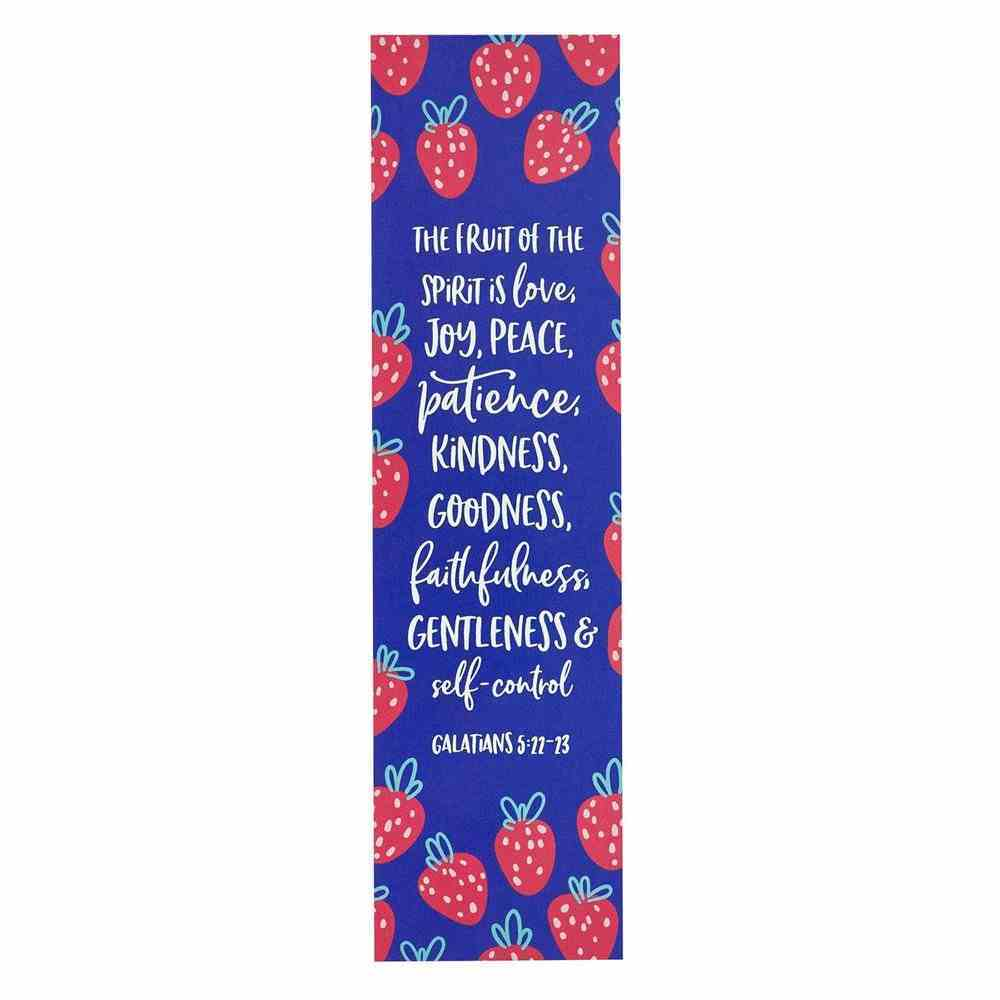 Bookmark: Fruit of the Spirit (Galatians 5:22-23) Purple/Strawberries (10 Pack) Stationery